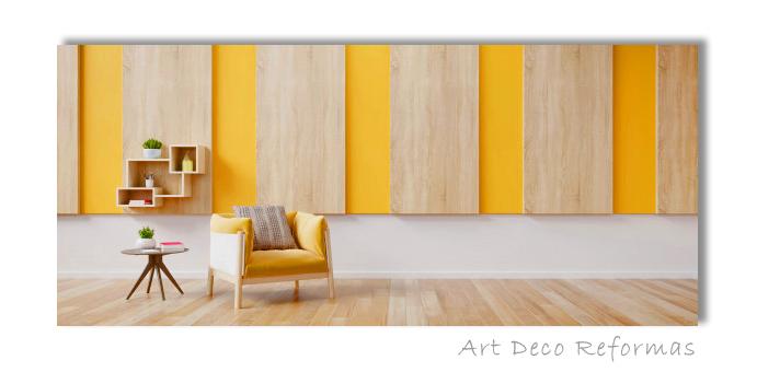 pintura dorada pared